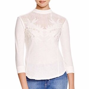 Free People Primrose Embroidered Top